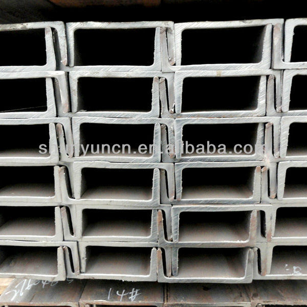 Hot rolled mild steel U beam perforated u beam