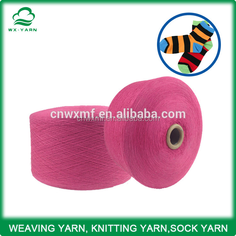 High quality 100 cotton open end yarn for socks , mops
