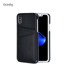 For iphone X Leather Back Cover, Handcrafted Slim Leather Back Cover with ID Credit Card Slots Holder Case For iphone X