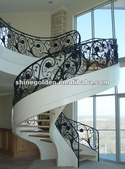 fashion craft modern wrought iron stair handrailing SG-15H004