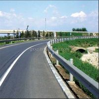 Corrugated Galvanized Steel Highway Protection Guardrail For Road Safty