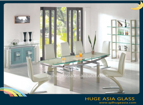 3-19mm Tempered Glass Dining Table, Tempered Glass Price