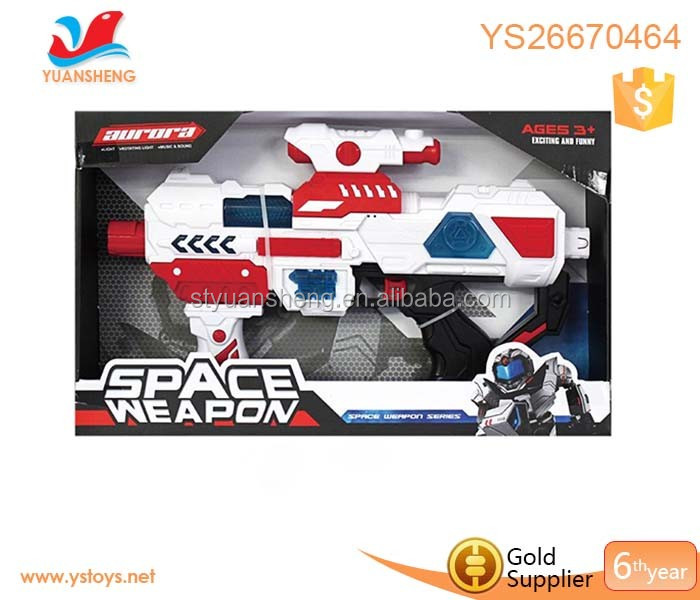 Battery operated shooting music and lighting led laser gun children play space laser gun