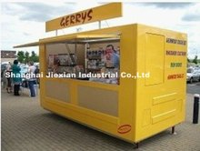 2015 Black Green yellow red Newly style JX-FS280F Western Food Van for selling