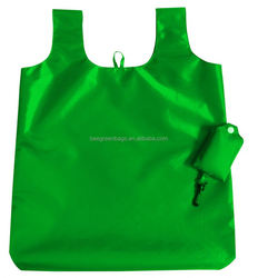Recyclable nylon fold up tote with Double Layer