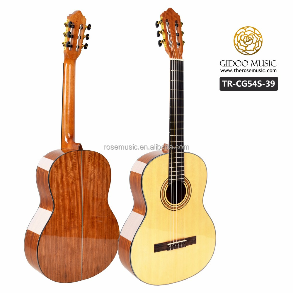 China made guitars wholesale plywood classical guitar with high quality control nylon strings TRCG54S39