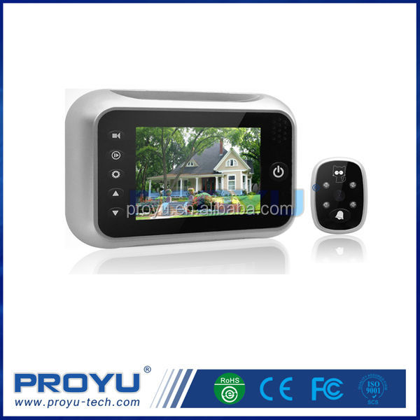 "High quality 8 languages 3.5"" LCD Electronic door camera Peephole Viewer"