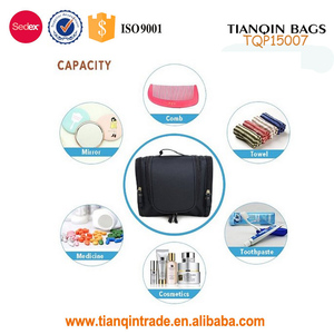 Best Selling Folding Waterproof Wash Bag Cosmetic Makeup Bag with Hanging Hook