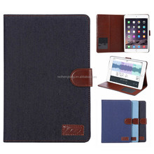 Jeans Denim Pattern Flipstand Leather Case Standing Cover For iPad Mini 4