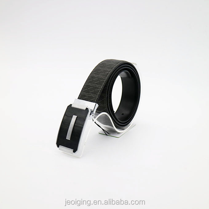 J12043 Clip Buckle Black Color Genuine Leather Belts For Business Style