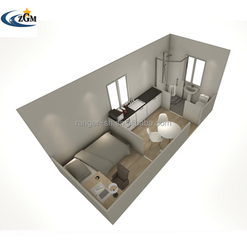 One Bedrooms Modular Container Home Two 20ft Container Together Custom Design Prefab Fabricated Container House