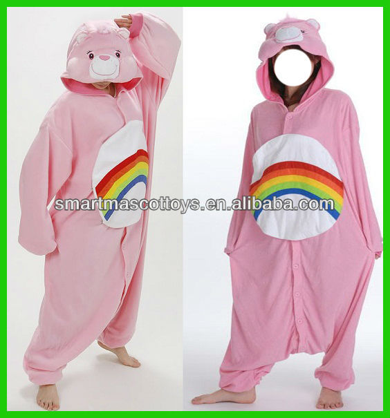 flannel care bear onesie adult care bear costume