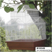 2014 New design metal bird cage with hooks