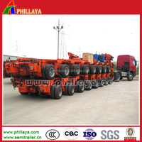 Phillaya heavy duty lowbed semi trailer excavator trailer manufacturer for sale