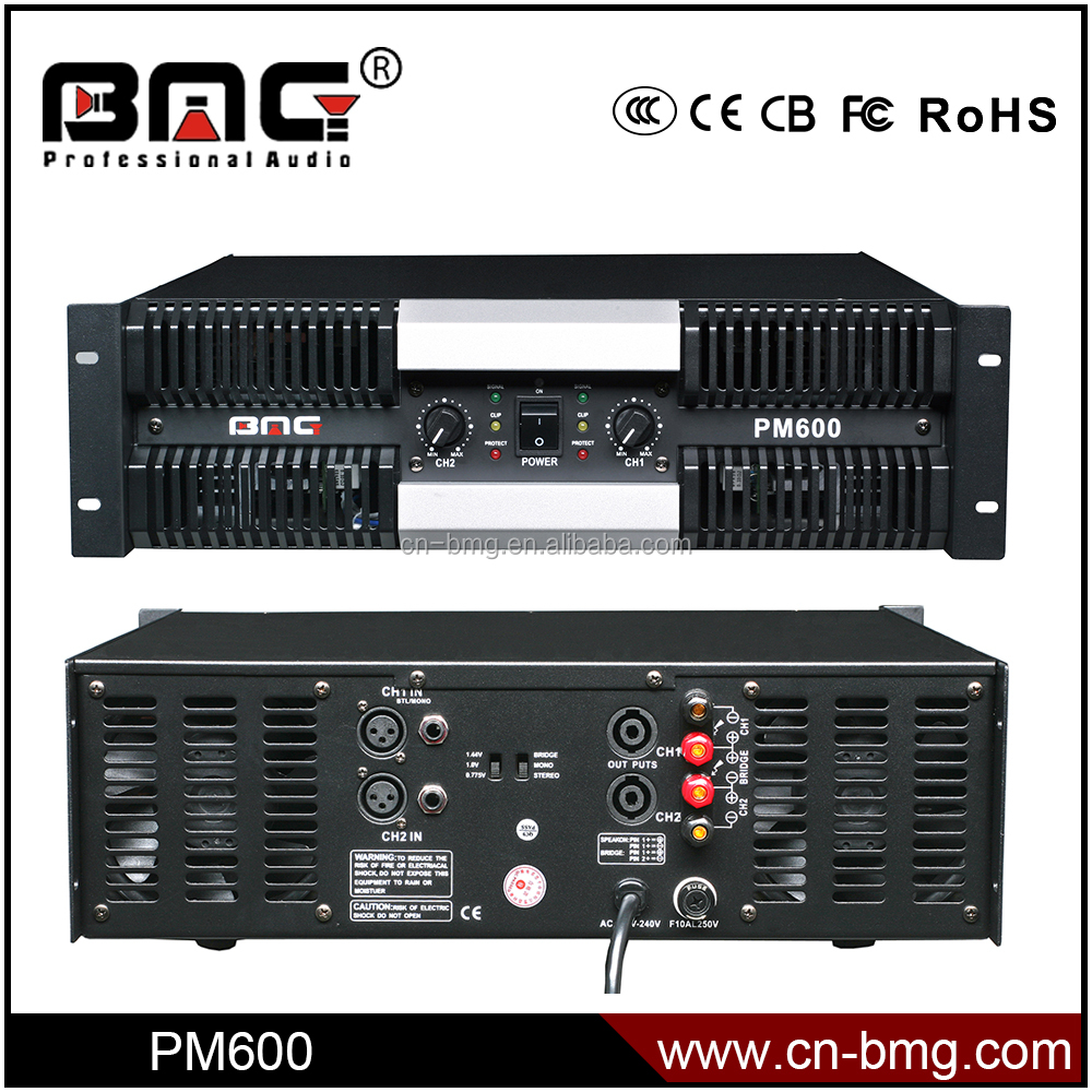 BMG PM600 Professional DJ Amplifier Price 1000w Ahuja Amplifier/ Amplifier Circuit