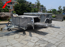 Off-road style foward folding hard floor travel camper trailer with independent suspension and kitchen system