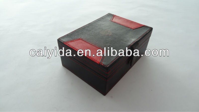 High quality customized made-in-China fine PU leather box for VIP Gifts
