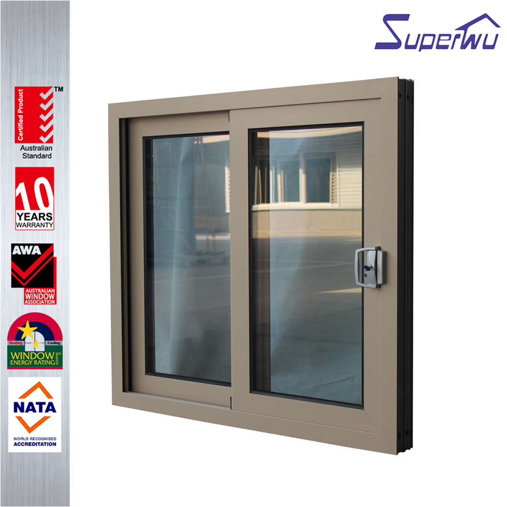 House And Office Tempered Double Glass Aluminium Sliding Window