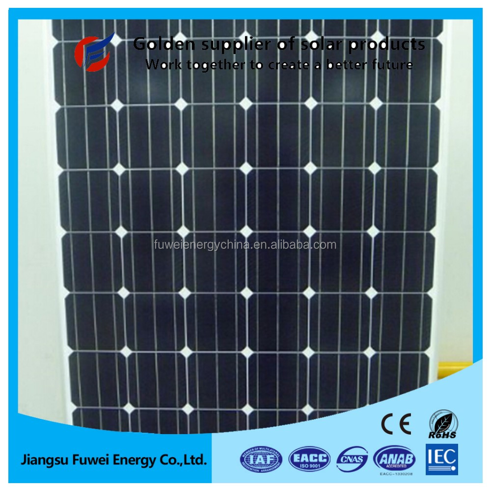 High efficiency mono solar panel 200 w for hot water