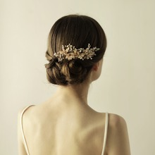 New Arrival Designer Gold Leaf Bridal <strong>Hair</strong> Combs high Quality <strong>Accessories</strong> For Women Girls Wedding Bijoux <strong>Hair</strong> Jewelry