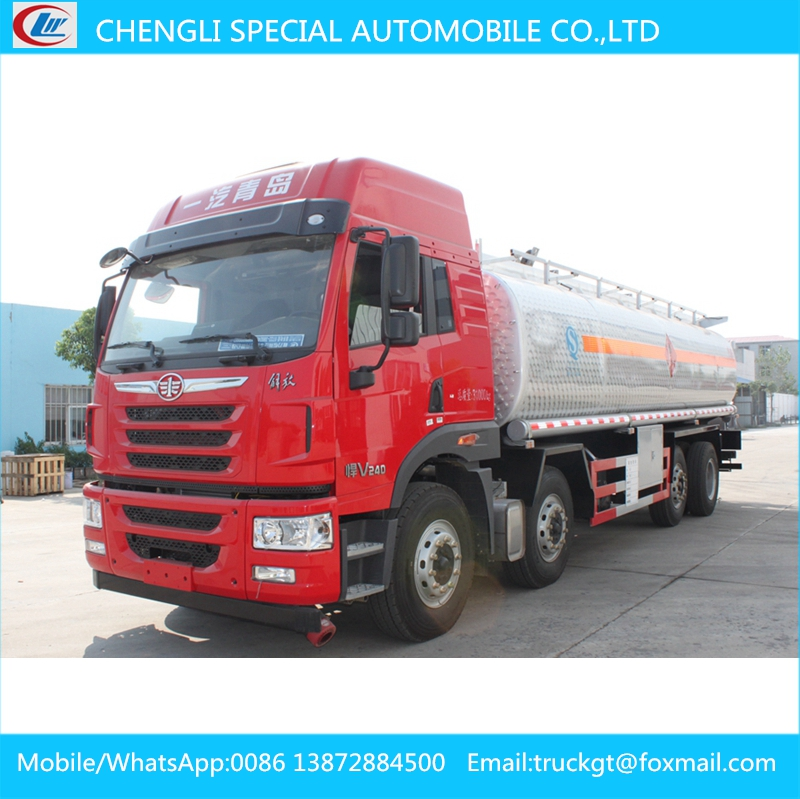 FAW oil truck factory price 26000L fuel tanker truck dimensions