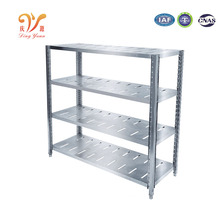 kitchen storage shelves with four tiers