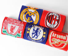 wholesale custom design acrylic knitted soccer fan football scarf