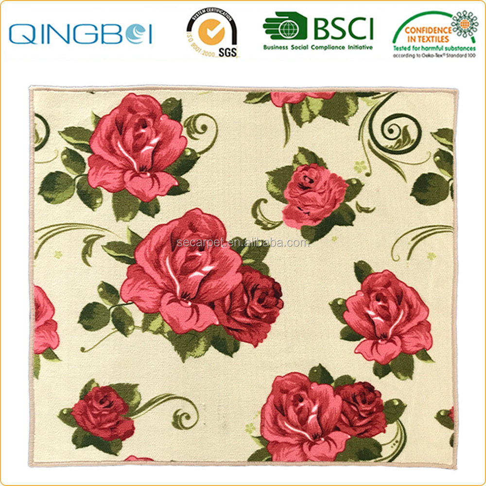 Newest luxury home decor flower carpets for modern living room area rug
