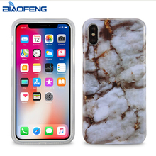 2018 fashion marble mobile back cover custom design phone case for iphone x case