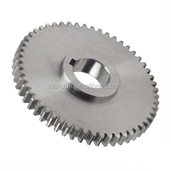 Steel large double spur gear with hub gears