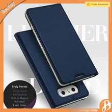 New design hand made leather wallet case for lg phones g6 flip case