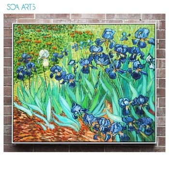 Masterpiece Reproduction Irises by Van Gogh famous paintings