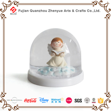 Angel Home Decorated High Quality Resin Christmas Plastic Snow globe