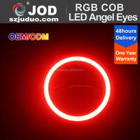 COB Angel Halo RGB Ring LED Light Remote Kit 12V for Car Decoration