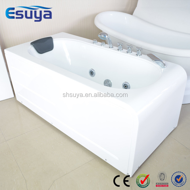 Square shape large size massage bathtub with air bubble for Bathtub shapes and sizes