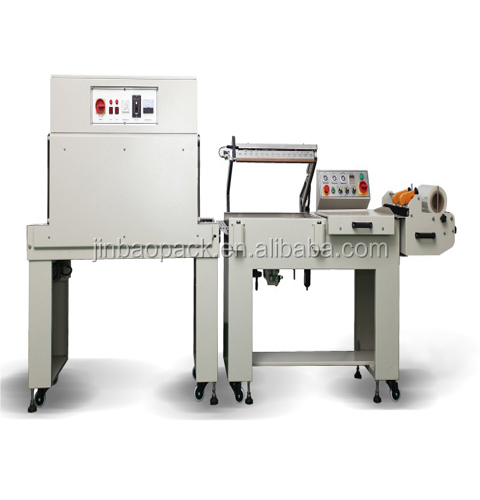 semi auto L bar sealer and shrink wrap machine