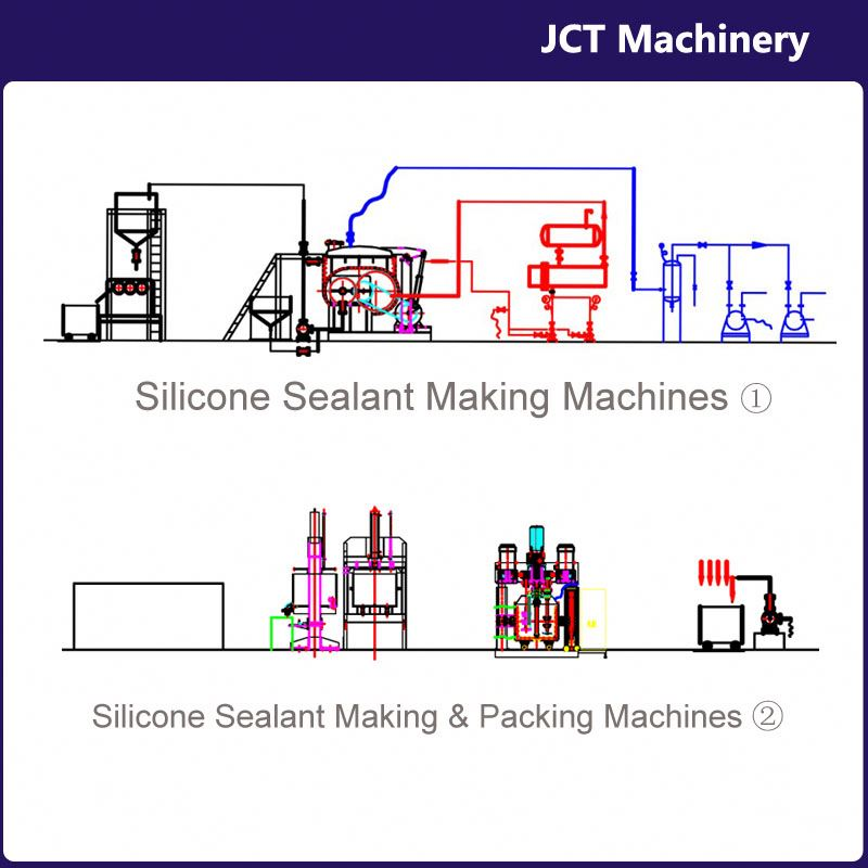 machine for making liquid neutral silicone sealant