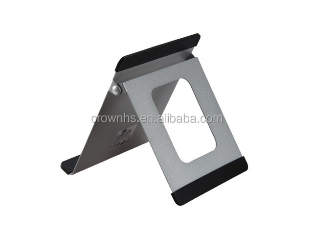 Foldable aluminium alloy smart phone stand , Desk Tablet PC Stand