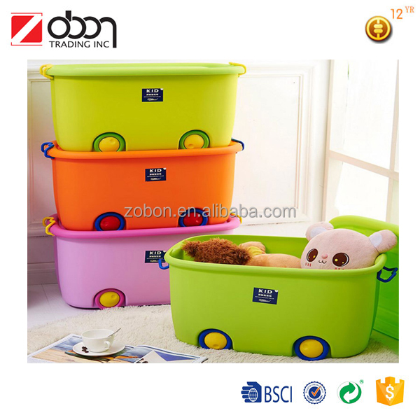 Custom Printed Children Choose Plastic Kids Toy Storage Box