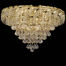 Luxury LED Crystal Ceiling Mounted Chandelier Lamp Fancy Light Lighting Fixture for Home House Decoration CZ7315G/660