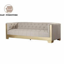The best price fabric chesterfield sofa modern style metal legs button tufted <strong>furniture</strong> for wedding event