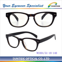 Latest Wood Temple Acetate Gasses fashion eyewear Wood Temple Acetate optical frame (W3304)