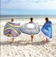 100% cotton round towe,1500MM reactive printed beach towel for hotel , home ,beach ,gift