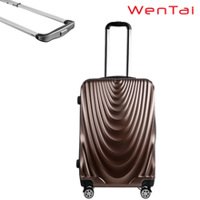 USB port business travel abs hard trolley case retractable luggage handles
