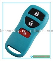 for Nissan blank key 3 buttons green color remote key case for nissan