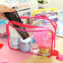Cheap and eco-friendly women transparent PVC cosmetic bag