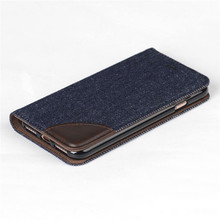 Amazing Jeans Mobile Phone Cover For iPhone 7 Plus PU Leather Wallet Case