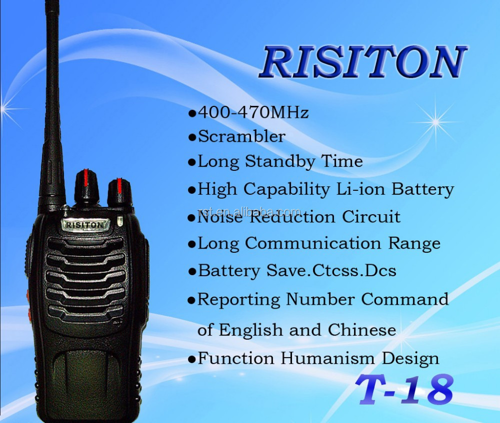 RISITON T18 Profesional FM Transceiver walkie talkie Long range two way radio handheld radio ham radio