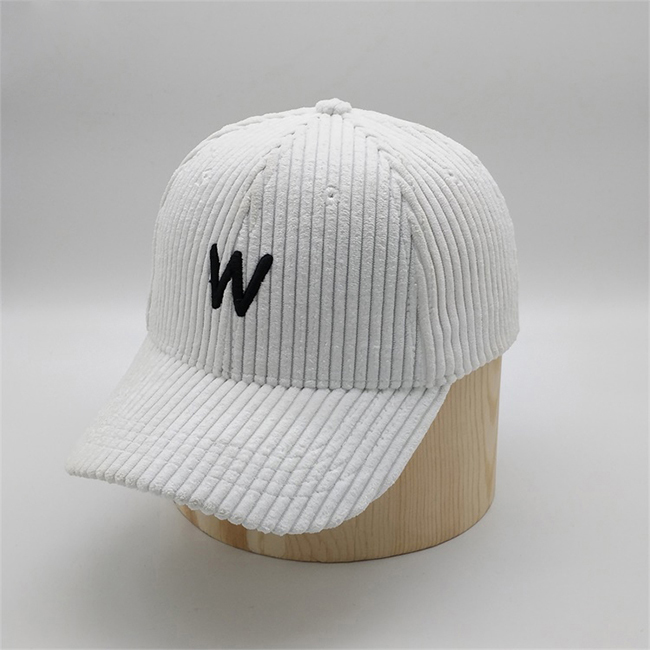 Wholesale Custom Meidiney 6 Panel Embroidered <strong>W</strong> Corduroy Baseball Caps For Women