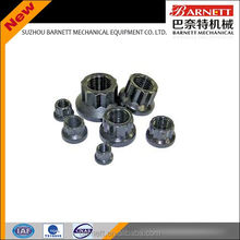 CNC machined round-head lock nut hex flange locking nut